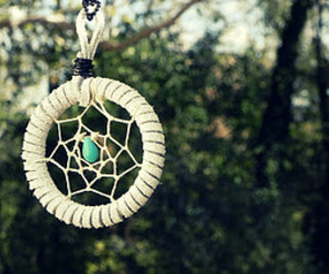 dreamcatcher, jewelry, and necklace image