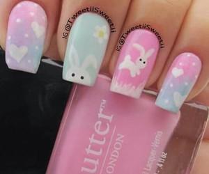 nails and bunny image