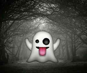 emoticon, fantasma, and emoji image