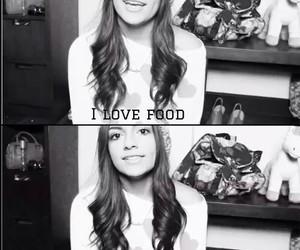 bethany mota, food, and guys image