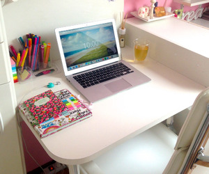 laptop, room, and study image