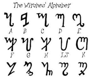 alphabet and witch image
