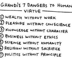 ghandi, text, and dangers image