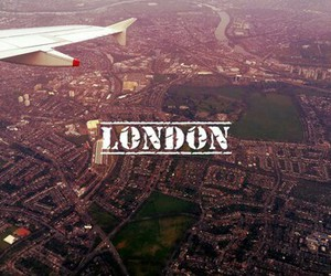 london, city, and plane image