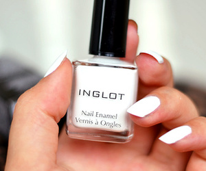 nails, white, and inglot image