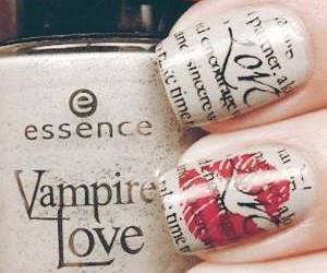 nails, nail art, and kiss image