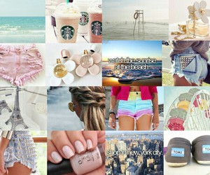 Collage, girl, and girly image
