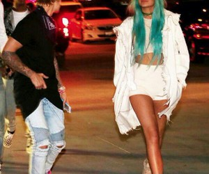 kylie jenner, justin bieber, and coachella image