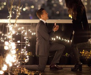 love, couple, and proposal image