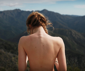 back, beautiful, and hair image