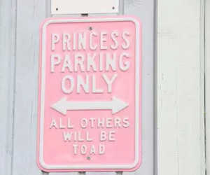 pink, princess, and parking image
