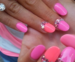 girl, nails, and neon image