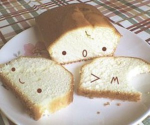 cute, bread, and food image