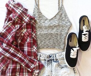 clothes, fasion, and flannel shirt image