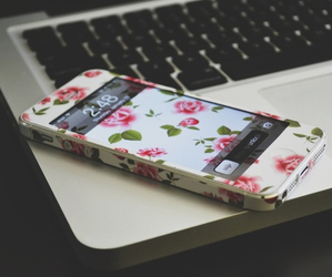 iphone, flowers, and phone image