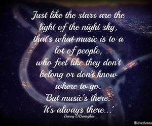 galaxy, light, and music image