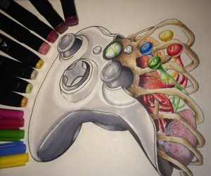 art, drawing, and xbox image