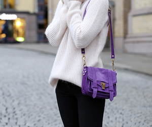 fashion, purple, and bag image