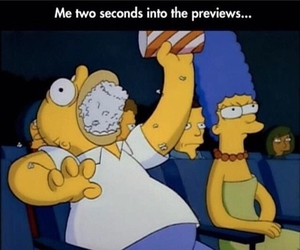 funny, simpsons, and popcorn image