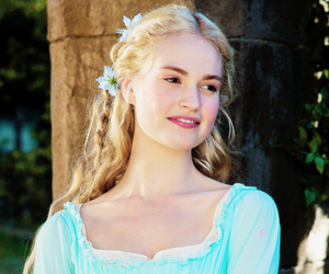 cinderella, lily james, and disney image