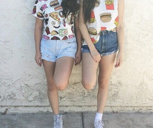 outfit, style, and friends image