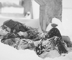 love, snow, and couple image