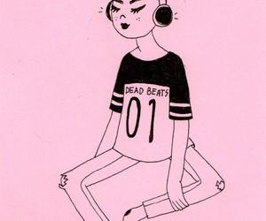 pink, music, and grunge image