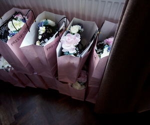 bags, bouquet, and flowers image