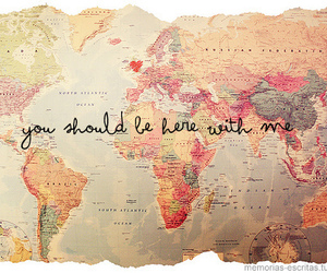 love, world, and map image