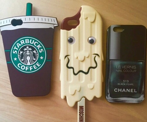 cases, iphone, and starbucks image