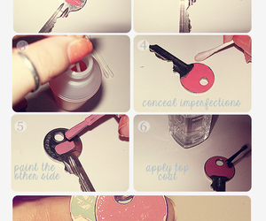 diy, key, and pink image