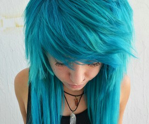 blue, scene, and blue hair image