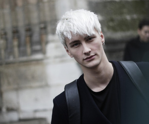 boy, colored hair, and white hair image