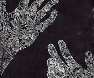 hands, art, and black and white image