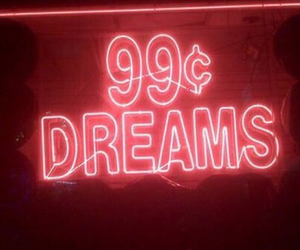 red, neon, and Dream image