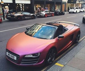car, audi, and pink image