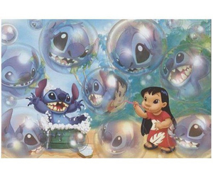 bubbles, disney, and stitch image