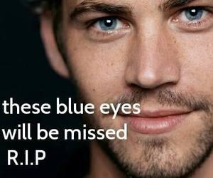 paul walker, rip, and blue eyes image