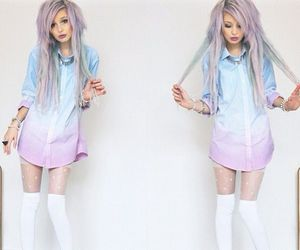 pastel and hair image