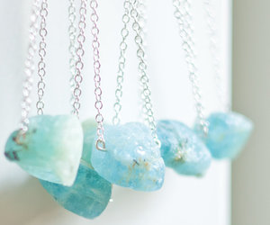 blue, necklace, and stone image