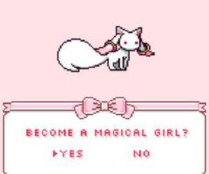 anime, madoka magica, and pink image