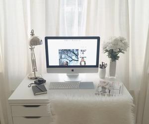 decoration, room, and desk image