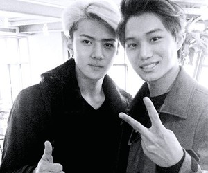 kai, exo, and sehun image