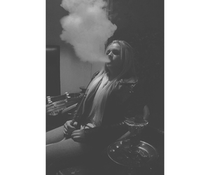 girl, hookah, and puff image
