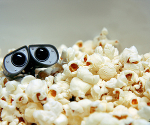 popcorn, wall-e, and disney image