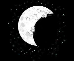 moon, stars, and sleep image