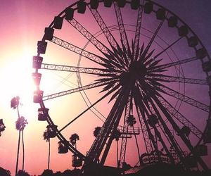 coachella, festival, and sunset image