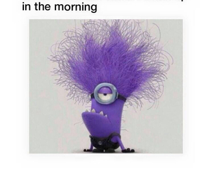 morning, funny, and minions image