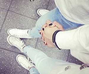 love, couple, and converse image