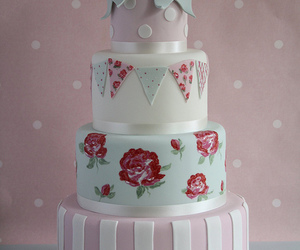 cake, bow, and pink image